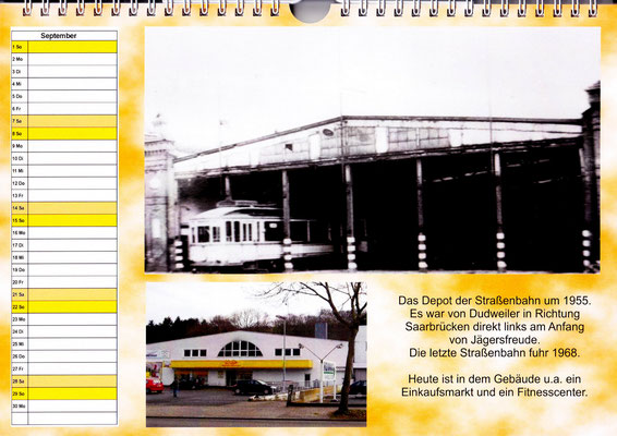 dudweiler jägersfreude depot der straßenbahn 1955