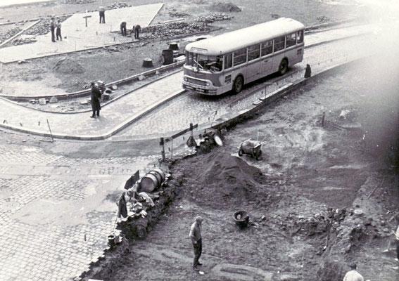 Umbauarbeiten am Dudweiler Markt