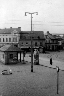 Marktplatz Dudweiler um 1950
