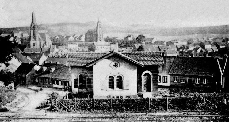 Alter Bahnhof Dudweiler um 1910, Am Neuhauser Weg
