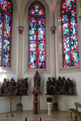 Dudweiler, St. Marien, Apostelgruppe mit Jesus, gefertigt 1931 von Johannes Mettler, Morbach