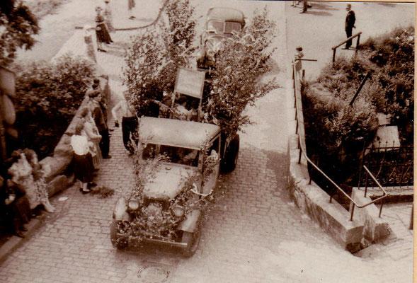 Jägersfreude 1950, Sulzbachbrücke.  Foto: Archiv Wahl, Slg. Haag