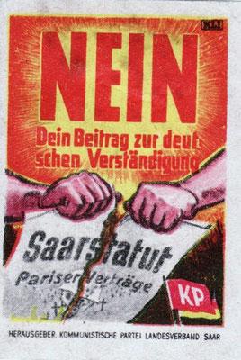 Wahlplakat Abstimmung 1955