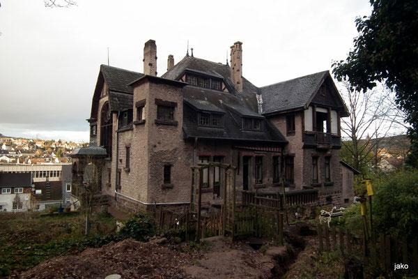 Villa von hinten