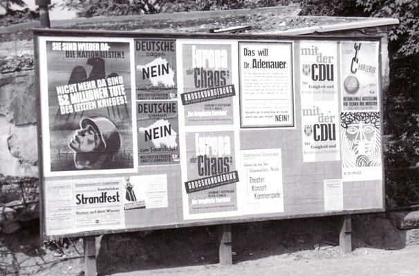 Plakatwand Wahlwerbung Saarstatut 1955