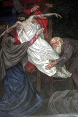 """Dudweiler, Das Bild """"Die Kreuzabnahme Jesus"""" wurde 1926 von B. Gauer aus Düsseldorf gemalt"""