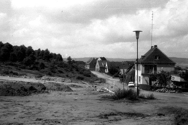 Dudweiler 1955, Hermann-Löns-Straße, ehem. Café  Sorg