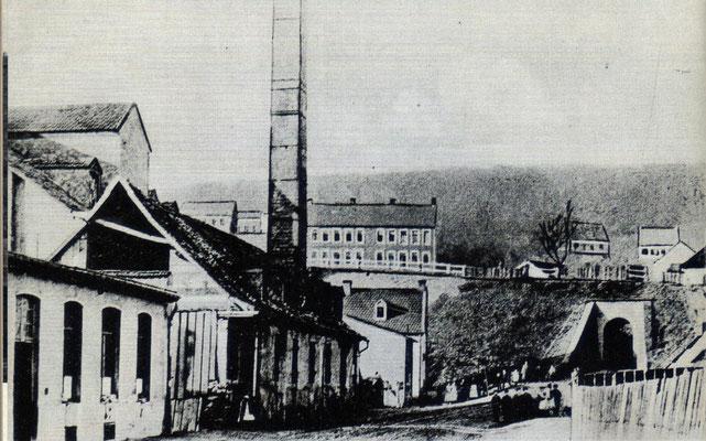 Jägersfreude um 1900, Altes Werk, St. Johanner Straße, mit Tunnel