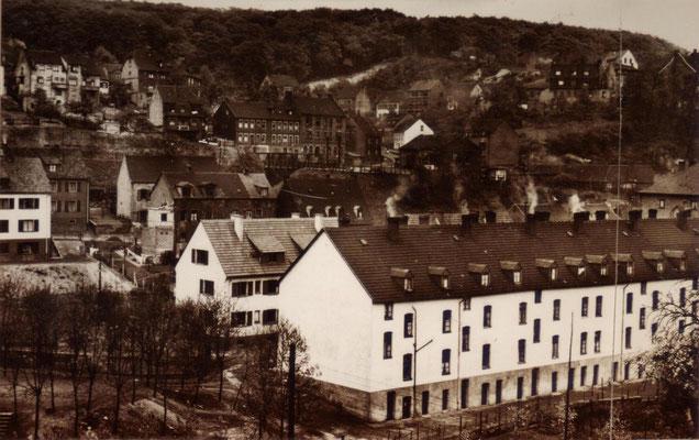 Jägersfreude, Blechhammerstraße langer Bau.  Foto: Archiv Wahl, Slg. Haag