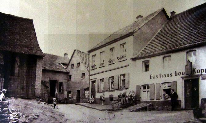 Dudweiler 1930er Jahre, Büchelstraße, Gasthaus Kopp
