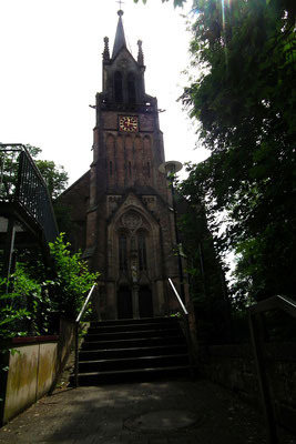 Dudweiler, St. Marien,Mit Kirchentreppe