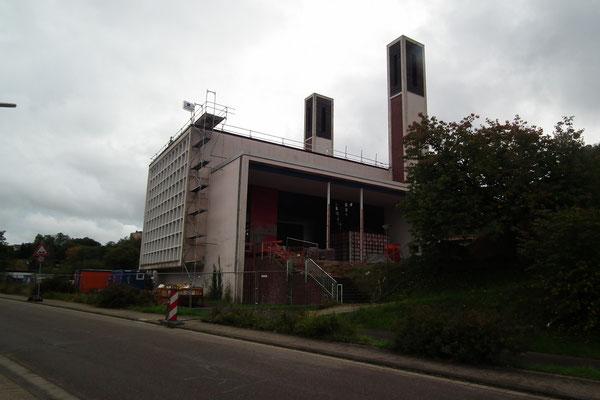 Die Kirche während des Umbaus, 2014