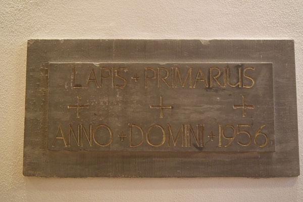 Grundstein St. Bonifazius von 1956