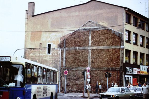 Dudweiler Mark, Kaufland nach Abriss der Nebengebäude, 1985