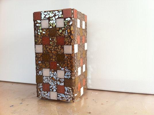 Lampe mit Crackle Mosaik