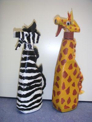 Figuren aus Sprühflaschen