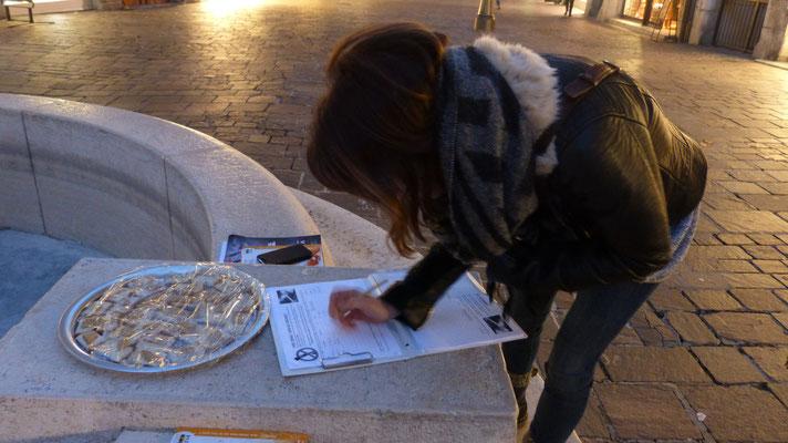 Dégustation de pâté végétale et pétition
