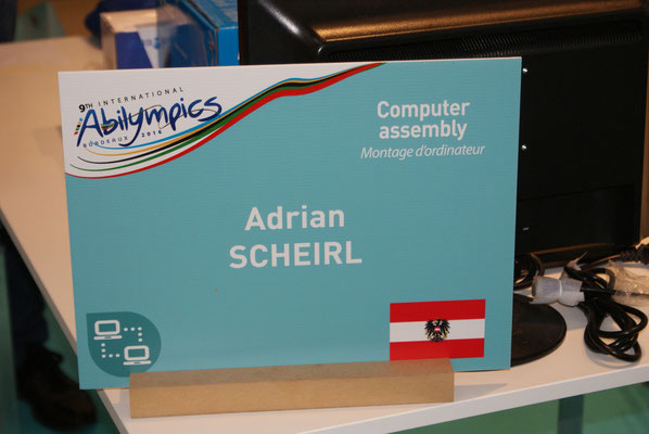 Adrian Scheirl bei Abilympics