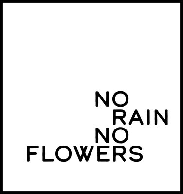 no rain no flowers premium poster - typografie - blumen - wandbilder
