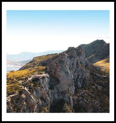 mallorca berg premium poster - malle - naturmotiv - spanien - sommer - sun - wandbild - fotografie