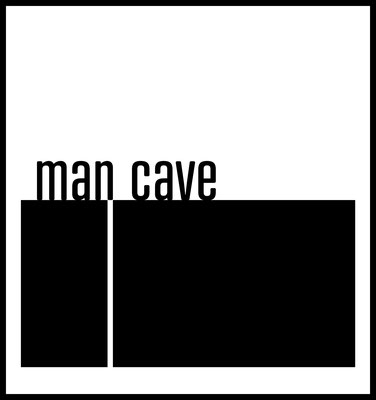 man cave premium poster - typografie - männerabend - wandbild