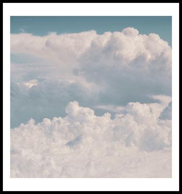 blue clourds premium poster - natur - himmel - wolken - wandbild