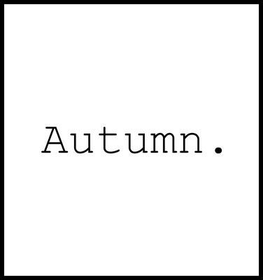 autumn premium poster - typografie - herbst - jahreszeiten