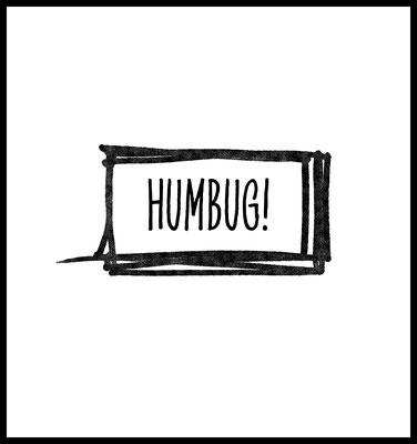 humbug premium poster - typografie - weihnachten - grinch - winter