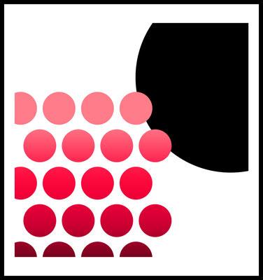 on point premium poster - farbige punkte - moderne kunst - graphic - formen - wandbild