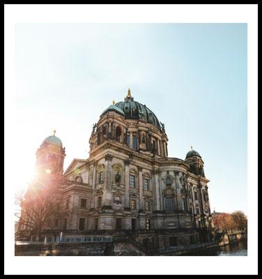 berliner dom premium poster - berlin - city - fotografie - sonne