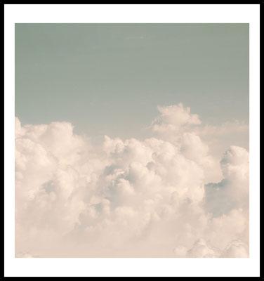 clouds premium poster - natur motiv - wolken - himmel - retro - vintage