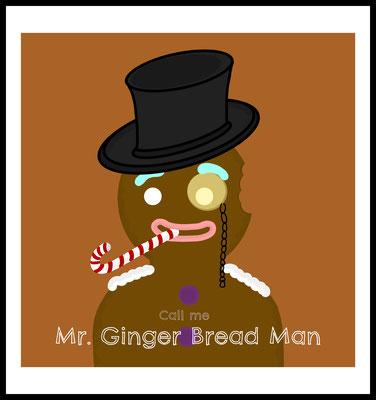 mr ginger bread premium poster - lebkuchen - weihnachten - christmas - graphic - comic