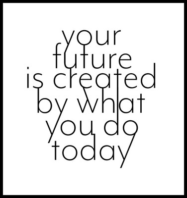 your future is created by what you do today premium poster - typografie - inspiration - motivation