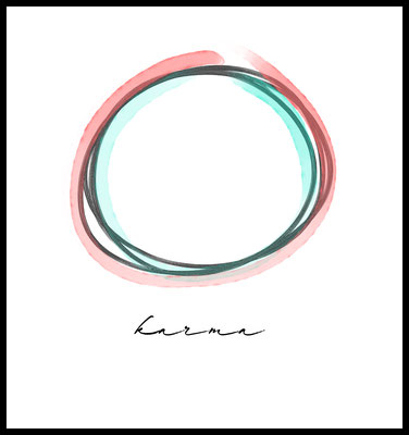 karma premium poster - typografie - quote - art - wandbild