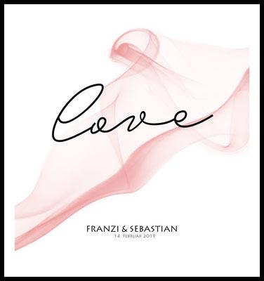 personalisiertes poster - geschenk - liebe - hochzeit - namen personalisiert - love - rosa - datum - namen - hochzeitsgeschenk