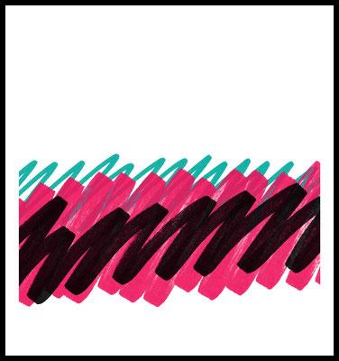 gekritzel premium poster - graphic - farbstriche - pinsel - art - modern - wandbild