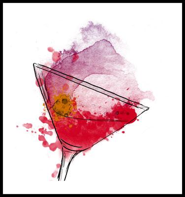cosmopolitan premium poster - cocktail motiv - party - drink - girl - alkohol - graphic - wandbild