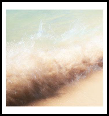 wave premium poster - natur motiv - fotografie - sommer - jahreszeiten - welle - strand - beach - urlaub