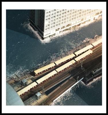 alexanderplatz premium poster - city - stadt fotografie - berlin - wasser - sonne - wandbilder