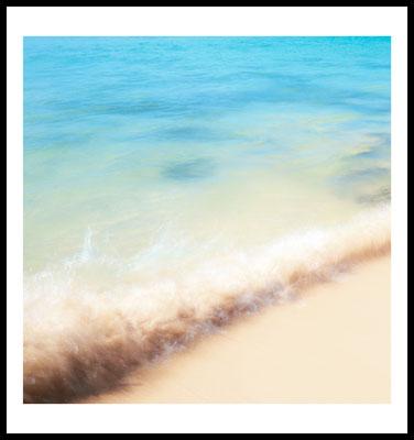 beach wave premium poster - ocean - natur motiv - welle - strand - sommer - ocean - wandbild