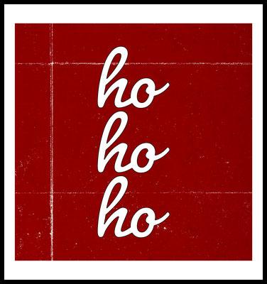 hohoho premium poster - weihnachten - rot - typografie -christmas - red