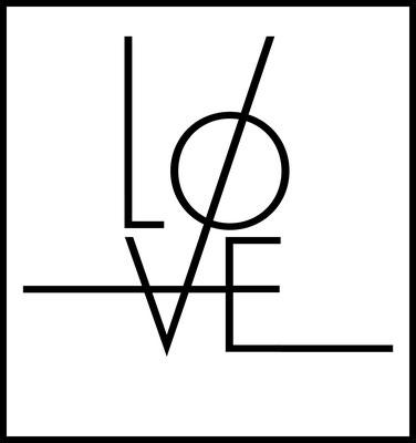 love premium poster - typografie - art - liebe - wandbild - schlafzimmer