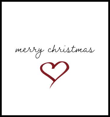 Christmas Heart premium Poster - weihnachten - merry christmas - typografie - winter - spruch - quotes