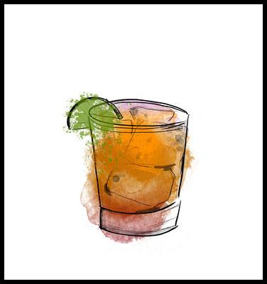 gin premium poster - cocktail motiv - drink - party - graphic - wandbild - inneneinrichtung