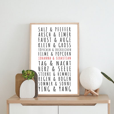 4one pictures - personalisierte poster - liebe - hochzeit - paar - geburtsagsgeschenk - hochzeitsgeschenk - valentinstagsgeschenk - valentinstag - geschenk für sie ihn - poster liebe namen - poster datum - jahrestag