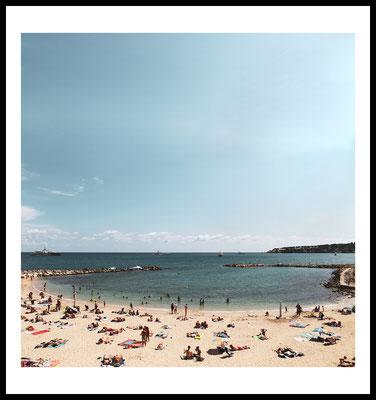 strand premium poster - natur - frankreich - meer - beach - sommer - urlaub