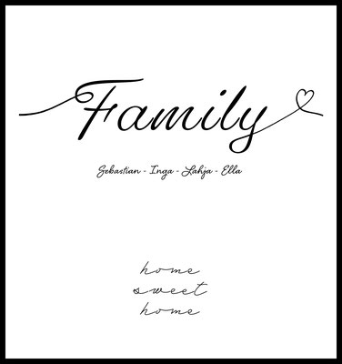 personalisiertes poster - geschenk - familie - family - namen personalisiert - geschenkidee - muttertag