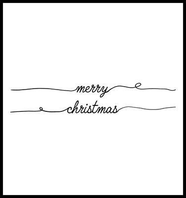 Merry Christmas premium poster - weihnachten - typografie - winter - spruch - quotes