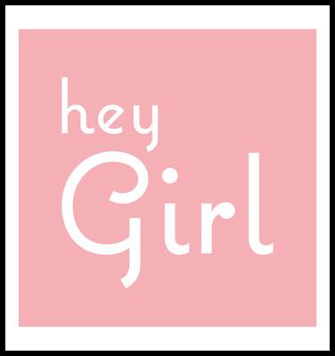 hey girl premium poster - typografie - rosa - frauen - mädels - inneneinrichtung