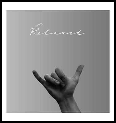 relaxed premium poster - handzeichen - easy - typografie - wallart - wandbild